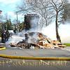 Carting truck fire snarls traffic in Hempstead
