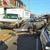 Three vehicle MVA in Hempstead