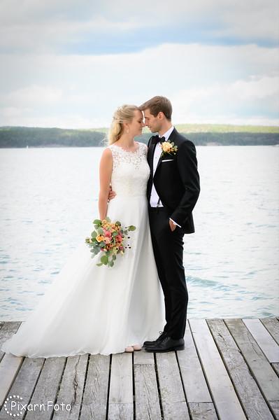 Bröllopsfoto Linda och Robin