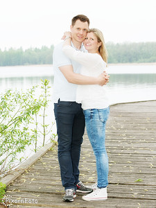 Parfotografering av Anna och Andreas