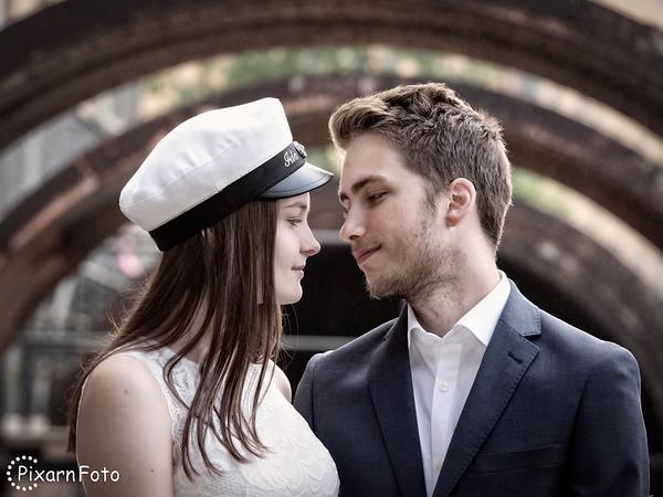 Studentfoto Ida och Alexander