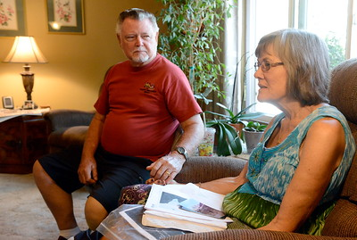Ed and Linda Hemsley of Oroville talk about their unique 50th wedding anniversary during an interview at their Oroville, Calif. home Thursday Aug. 2, 2018.  (Bill Husa -- Enterprise-Record)