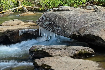 Icicles on the Little River
