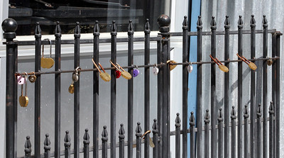 The ubiquitous locks on a fence