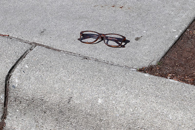 Lost glasses waiting to be found