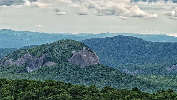 Looking Glass Rock from the Blue Ridge Parkway