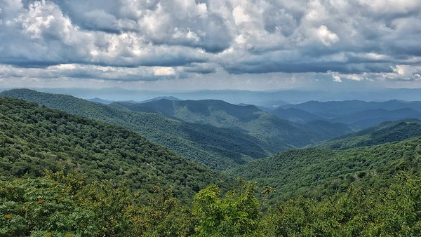 View from Craggy Gardens on the Blue Ridge Parkway