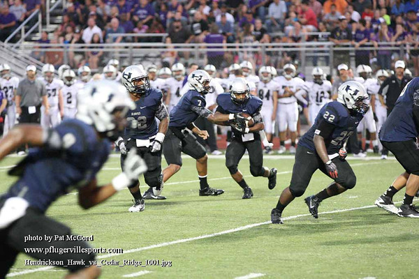 Hendrickson Hawks vs Cedar Ridge Raiders, Sept 27, 2013