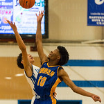 Eastern\'s Chance Moore (11) faced Henry Clay\'s Jordan Jones (10) for the tip.