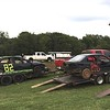 """These """"circle track"""" cars were in the pits and ready for racing."""