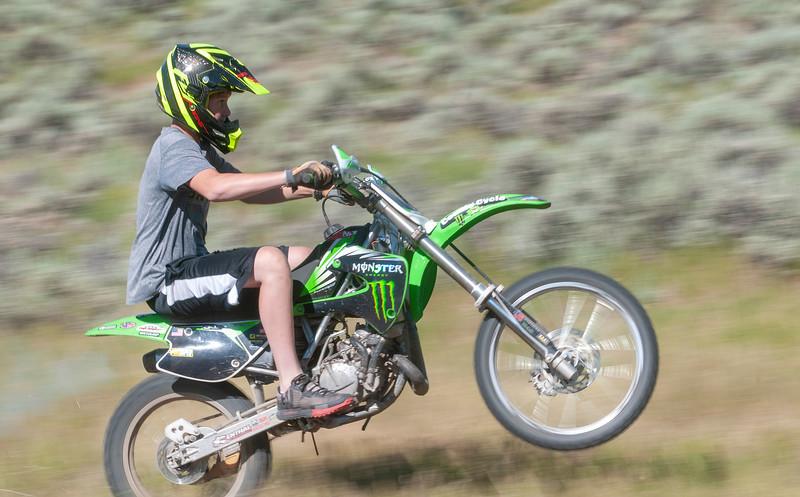 Henry Dirt Biking in Silver Creek