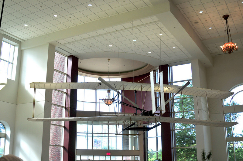 Replica of the Wright Flyer, just inside the entrance.