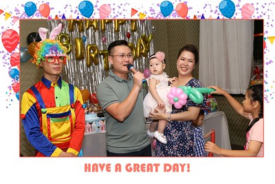 Henry & Hannah Birthday Party instant print photo booth | chụp hình lấy liền Tiệc Sinh Nhật | Photobooth Saigon
