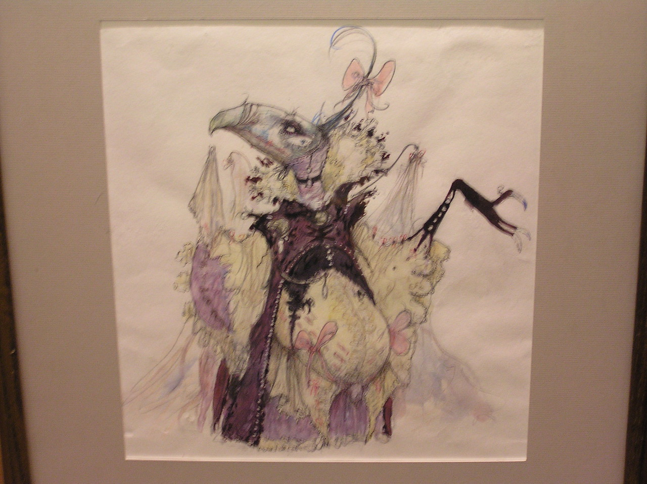 A Brian Froud sketch for a female Skeksis