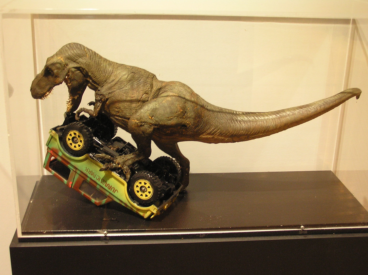 Stop-motion tyrannosaurus for <i>Jurassic Park</i> (1993)