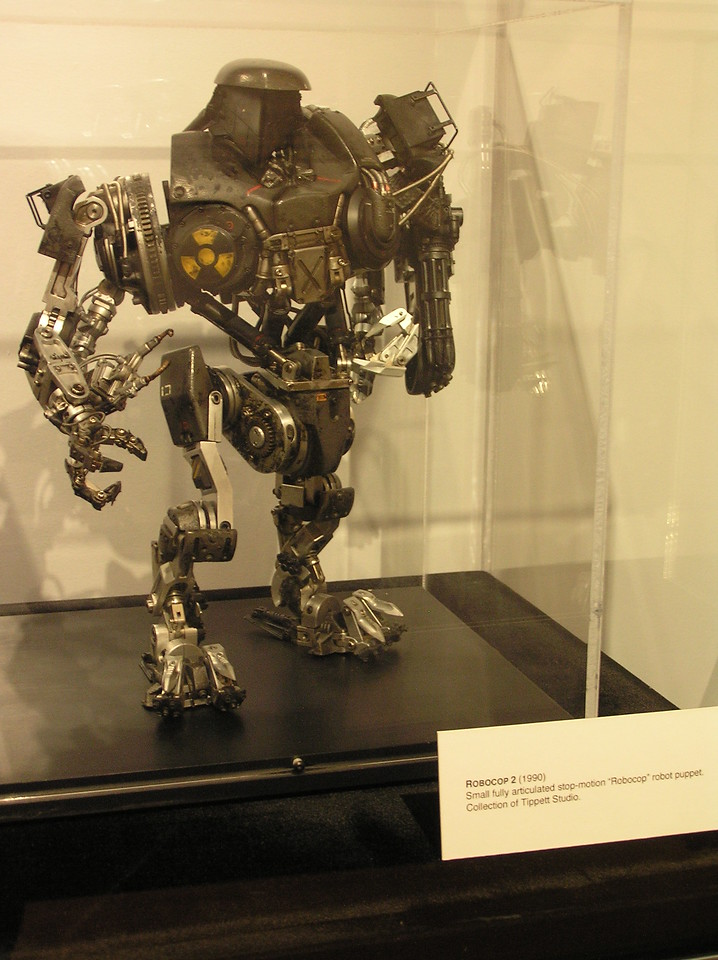 Small, fully articulated stop-motion robot for <i>Robocop 2</i> (1990)