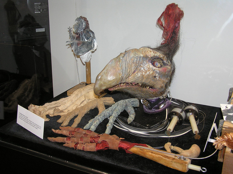 Skeksis head and prototype hands