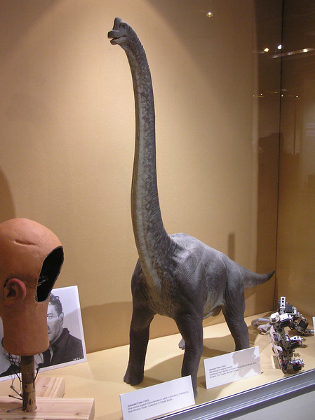 Stop-motion brachiosaurus for <i>Jurrasic Park</i> (1993)