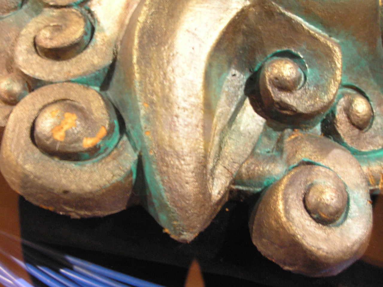 Close-up of painted foam on <i>Labyrinth</i> door knocker