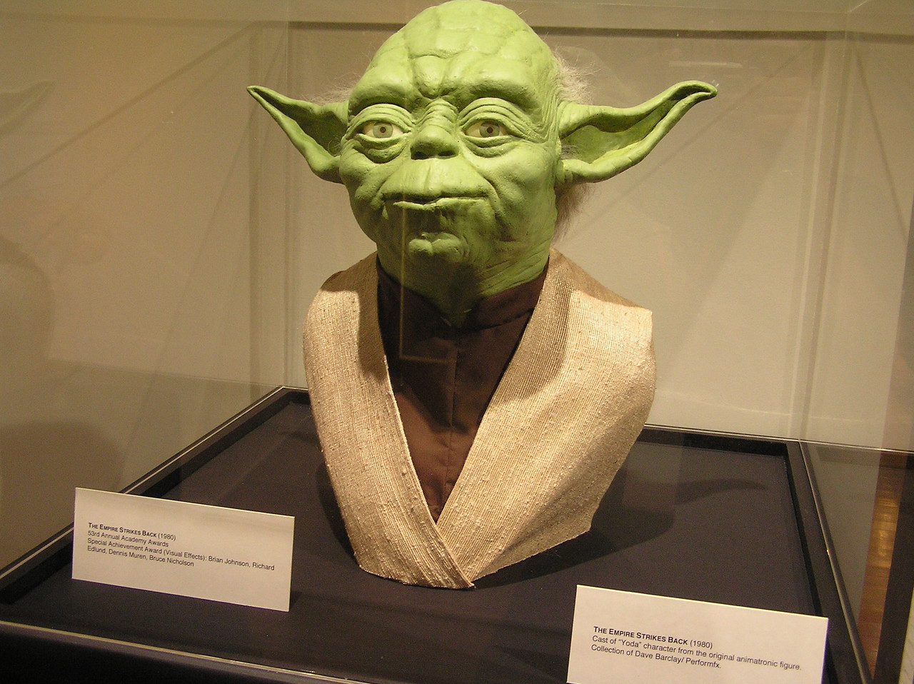 Unfortunately, this was just a cast of Yoda