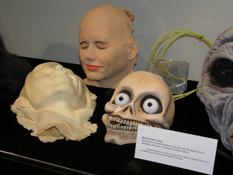 "<i>Beetlejuice</i>: ""Animatronic 'screaming skull' and face tear-off appliance for 'Barbara' character"""