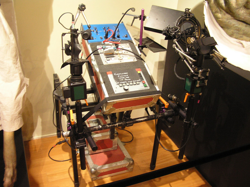 "Henson Performance Control System: ""By means of hand controls which are familiar to the puppeteer, complex sequences of interconnected movements which are associated with speech and the expression of emotions can be controlled remotely in a fantasy character, or puppet, as one performance."""