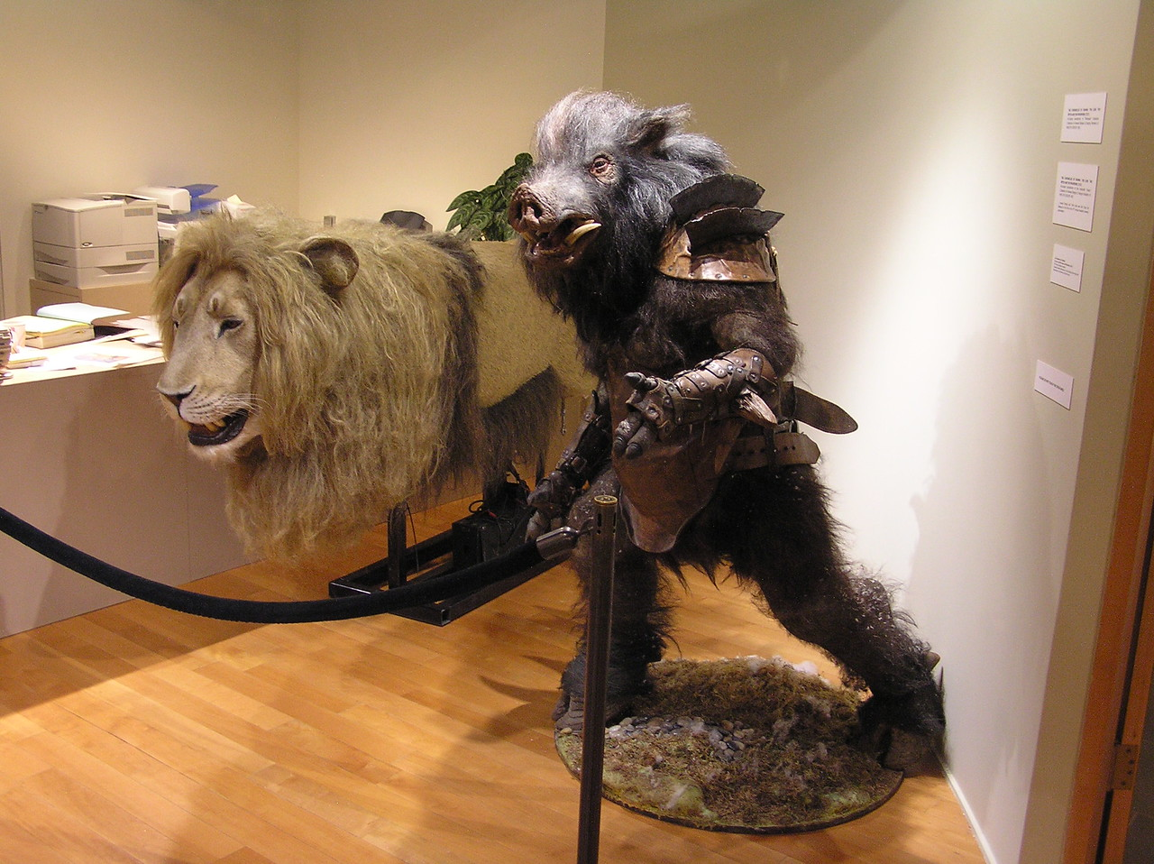 Aslan and a minoboar, from <i>The Chronicles of Narnia: The Lion, the Witch, and the Wardrobe</i> (2005)