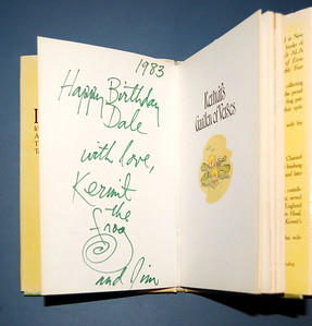 "Book given by Jim Henson to Dale Evans for her birthday Signed ""Kermit the Frog and Jim""  From the collection shown in the next photo"