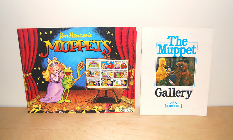 Muppets comic strip promotional booklet  The Muppet Gallery Sesame Street character descriptions and example lessons