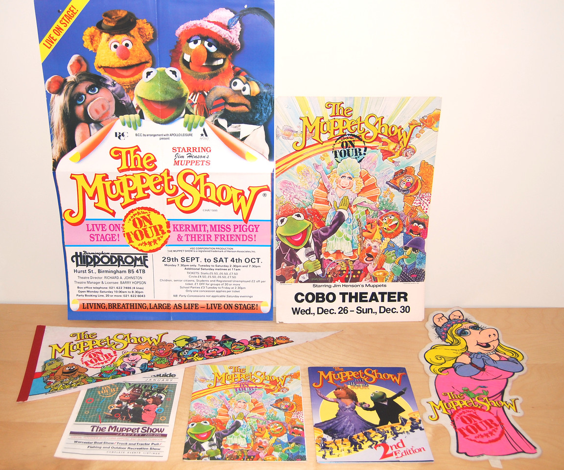 The Muppet Show: On Tour! Programs, posters, and pennants 1984-1985