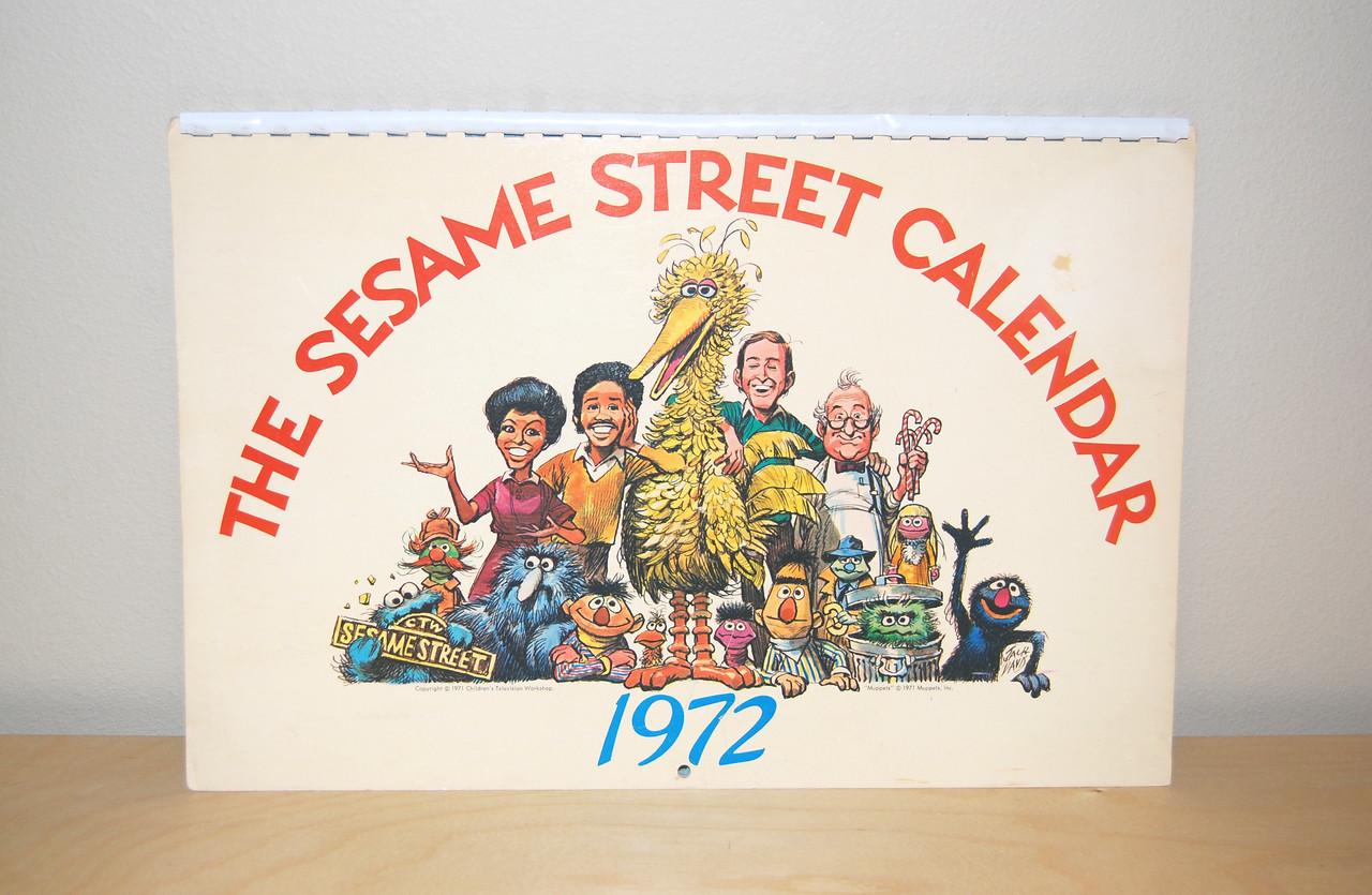 1972 Sesame Street calendar, artwork by Jack Davis