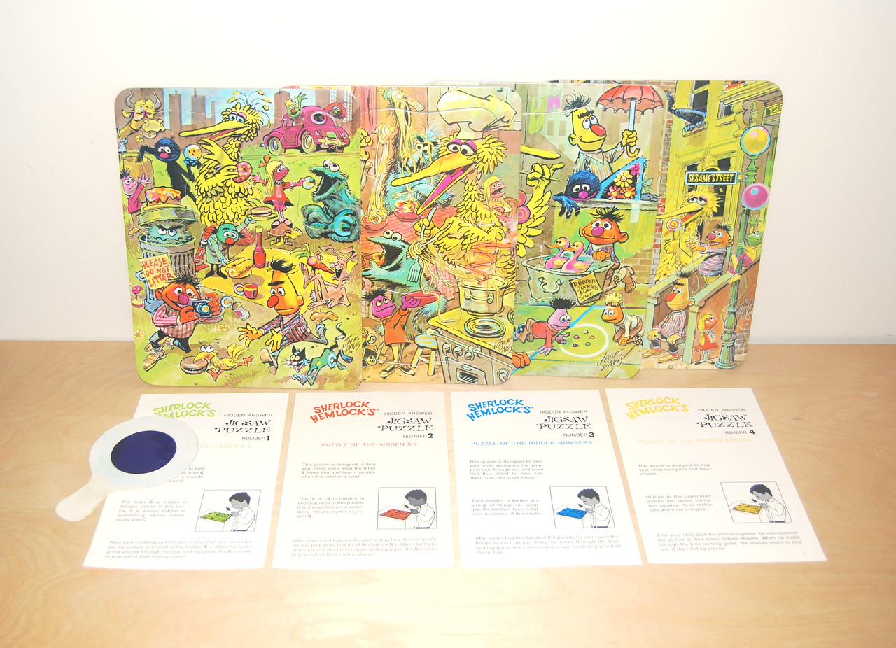 Sherlock Hemlock's Hidden Answer Jigsaw Puzzles Topper 1971
