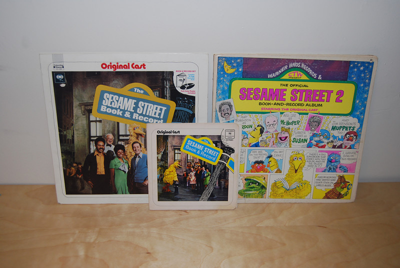 Sesame Street LPs and 45