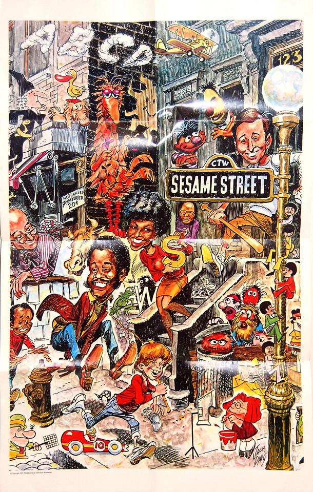 Sesame Street poster,  artwork by Jack Davis, 1970