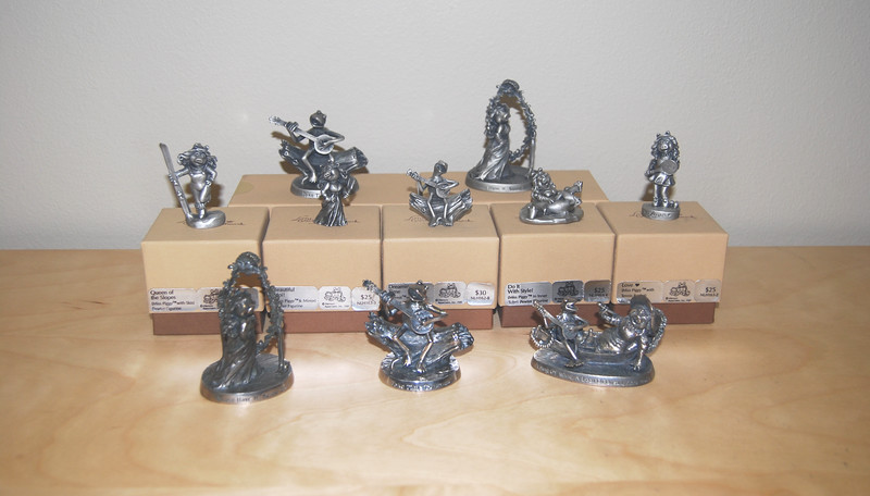 Pewter and silver-plated figurines (Hallmark, 1981)