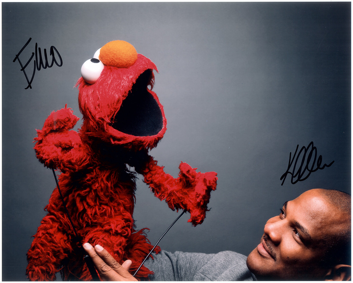 """""""Being Elmo"""" promotional photo signed by Kevin Clash"""