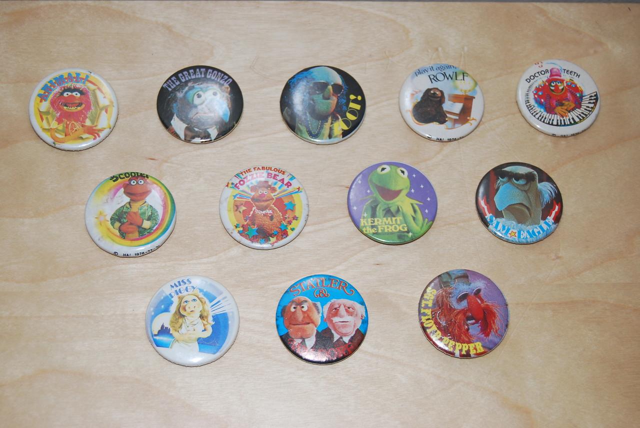 Muppet Show buttons 1976-1978