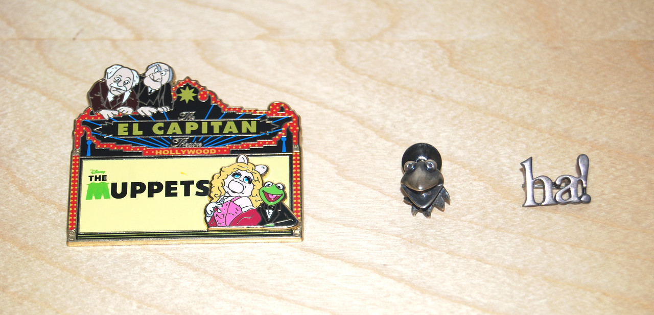 """The Muppets"" Disney pin from El Capitan Theatre  Kermit tie tack and ha! pin given to Henson employees in the 70's"