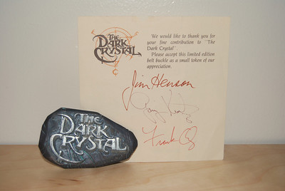Dark Crystal belt buckle Gift to cast and crew  with thank you note signed by Jim Henson, Gary Kurtz & Frank Oz