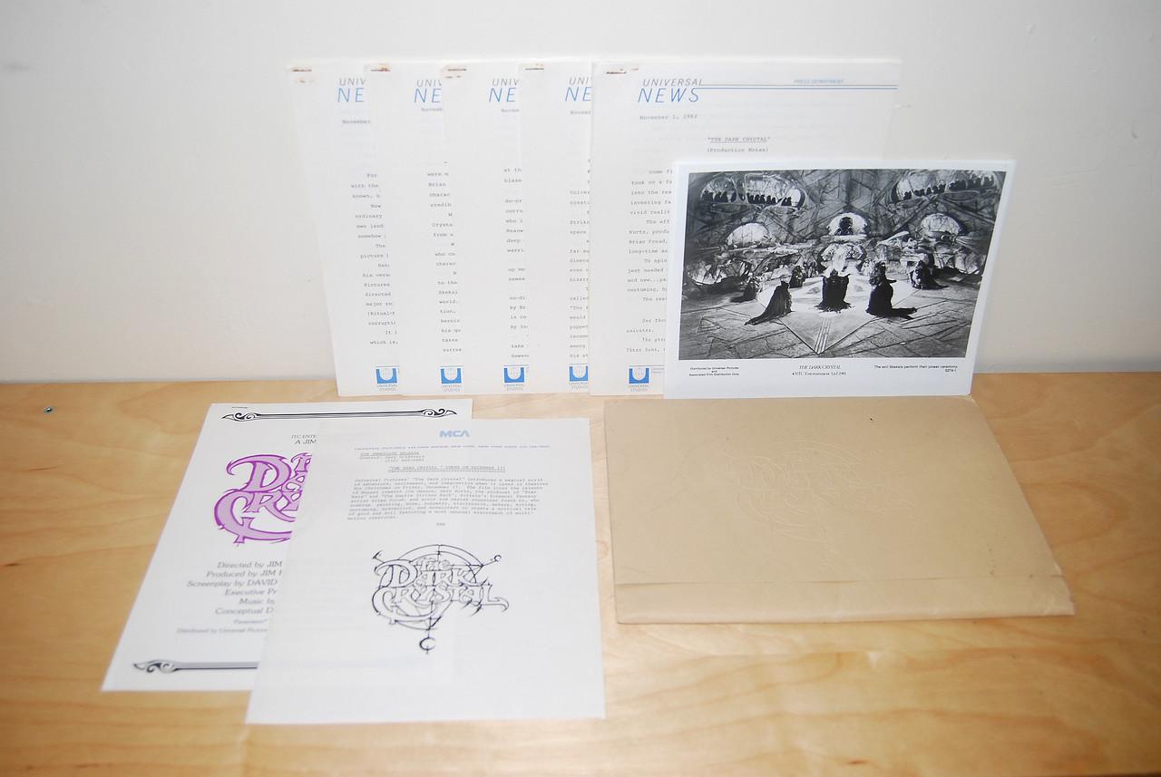 Dark Crystal press kit 1982