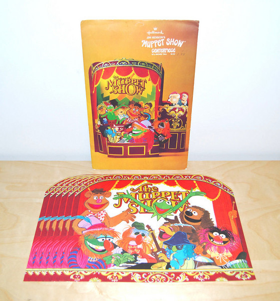Muppet Show centerpiece and placemats from Hallmark 1978