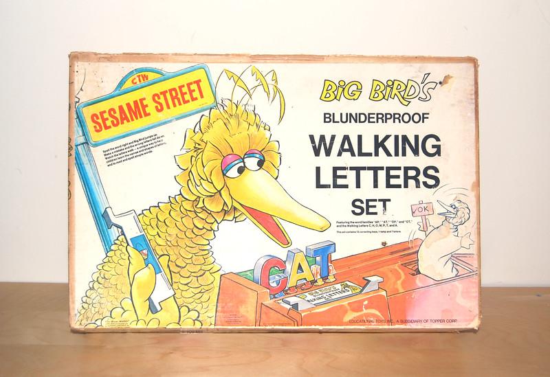 Big Bird's Blunderproof Walking Letters Topper 1971