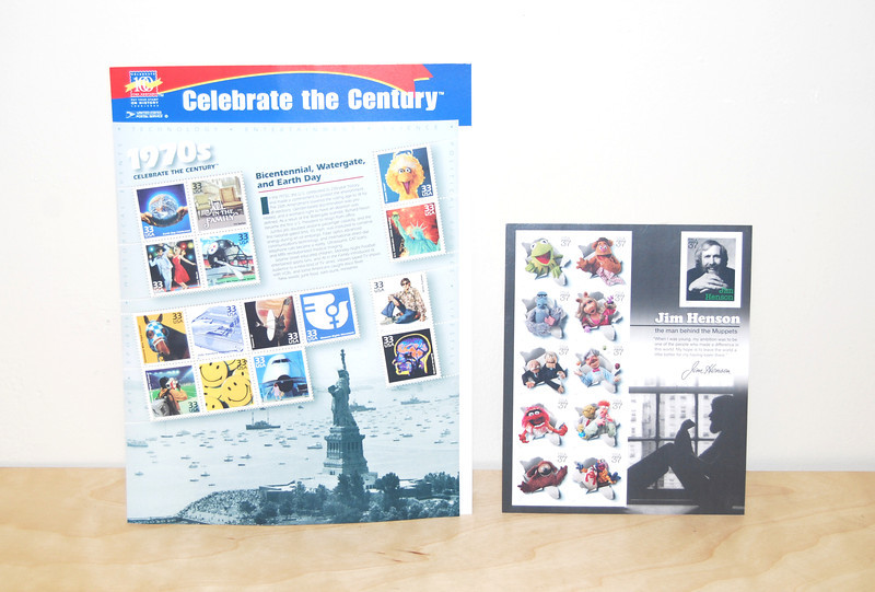U.S. Postage Stamps Celebrate the Century 1970's w/ Big Bird - 1999 Jim Henson and the Muppets - 2005