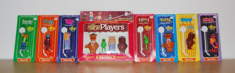 Muppet Show stick puppets from Fisher-Price 1978