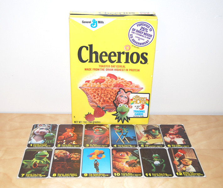Cheerios box with Muppet Movie promotion 1979