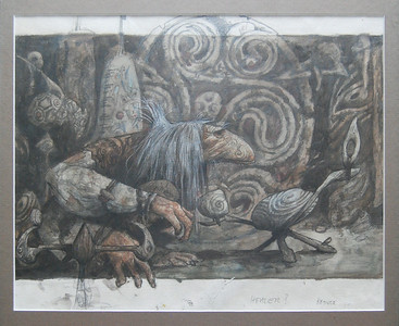 Dark Crystal concept art by Brian Froud