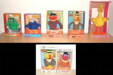 Sesame Street hand puppets Topper, 1971/1972