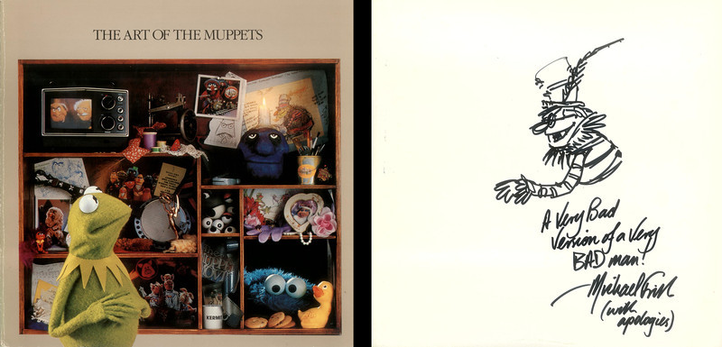 """Michael Frith designed the Electric Mayhem characters, so I asked him for a sketch of Dr. Teeth in my """"Art of the Muppets"""" book. His original drawing can be seen on the front cover."""