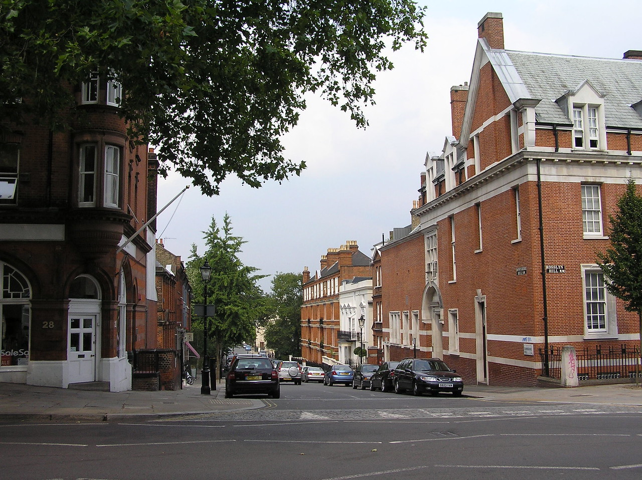 Jim Henson's England home, still owned by the Henson family, is just off the main street of Hampstead on Downshire Hill. It is the white house on the right side of the street.