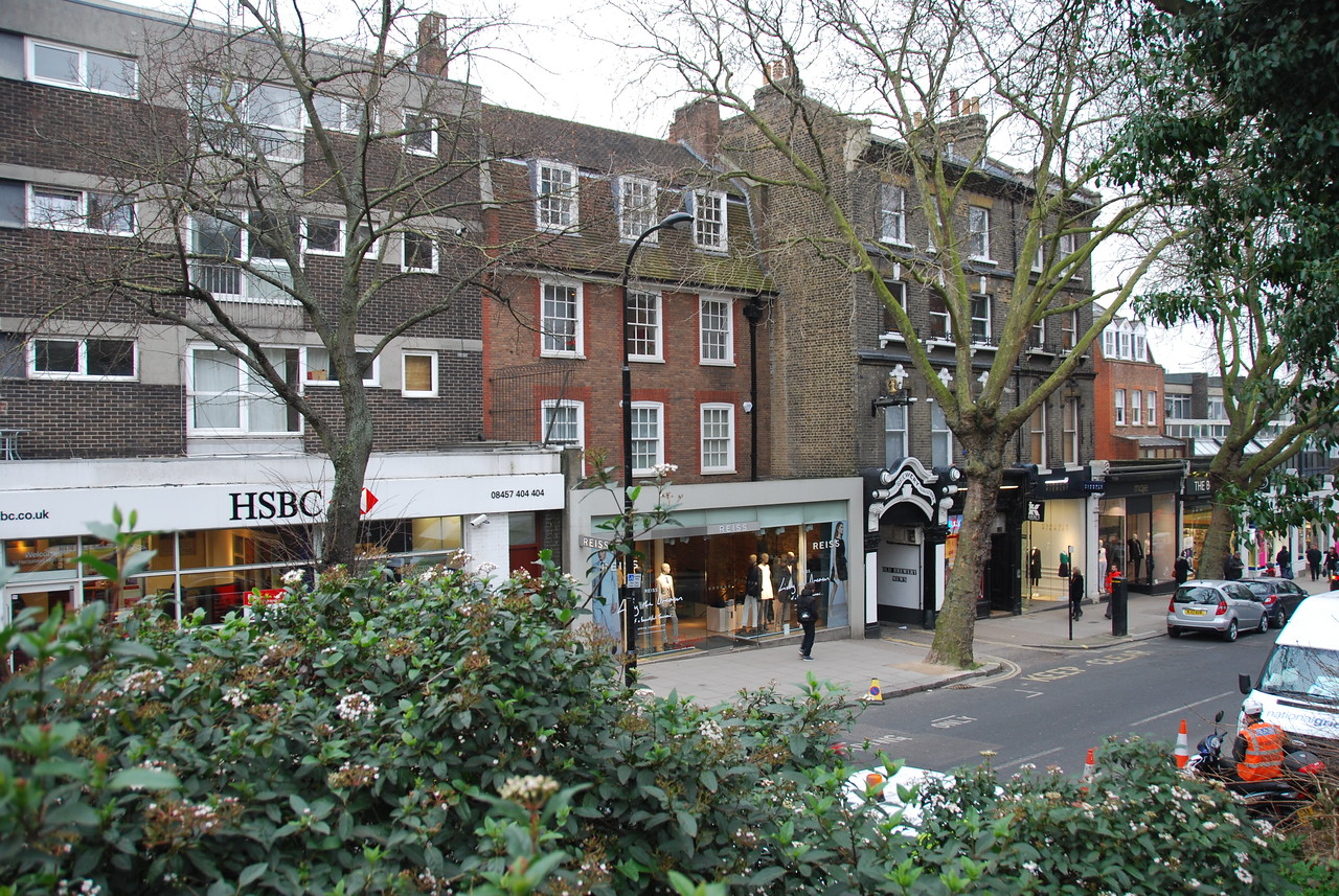On Hampstead's High Street is an entrance to Old Brewery Mews, where some of the Henson Company production offices were located in the late 80's.